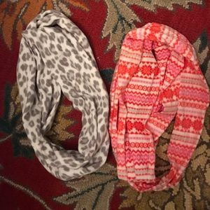 2 fuzzy old navy scarves